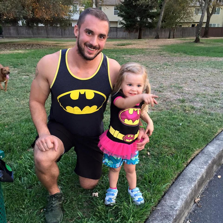 Kaylieann Steinbach is only 3 years old but she is already a superhero.