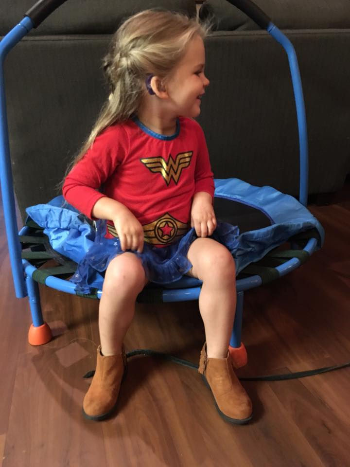 Every superhero overcomes obstacles and just like her heroes, she isn't going to let deafness get in her way.