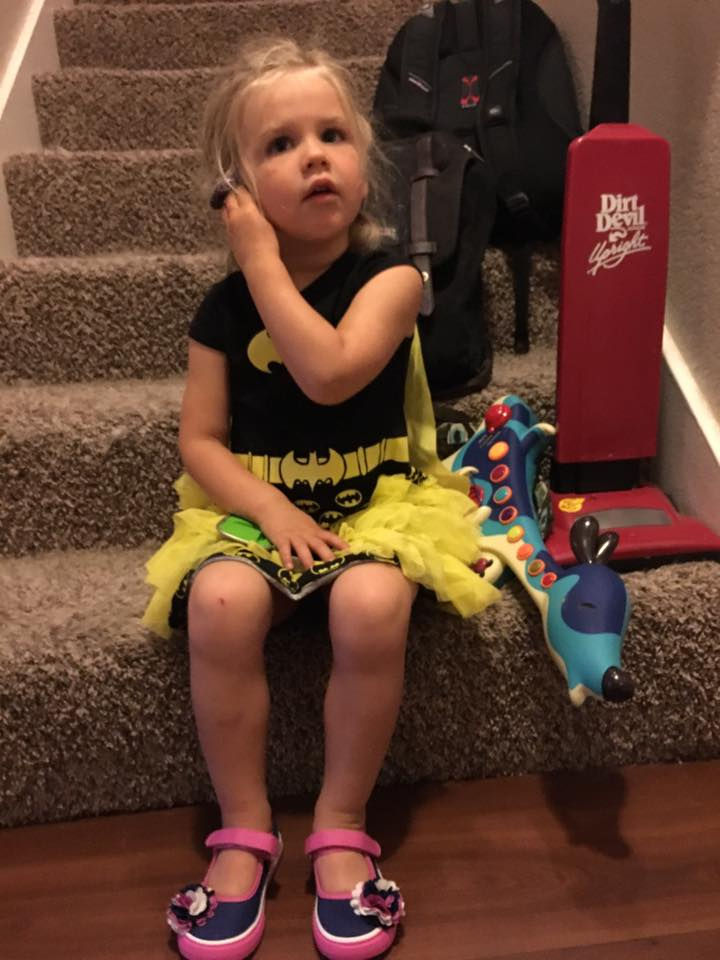 Kaylieann and her parents are learning ASL and her mom and dad are impressed by how quickly she is learning.