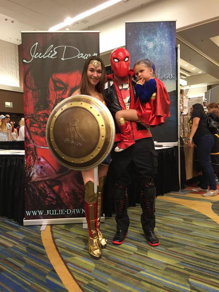 Her mom and dad have been supportive of her love for superheroes and even went to Comic Con in San Francisco.