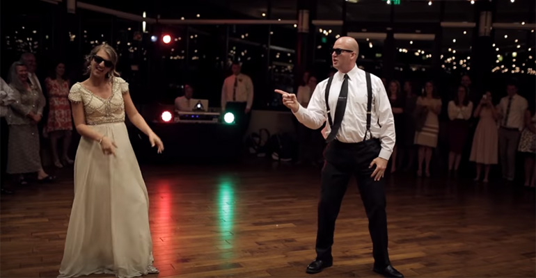 Surprise Father Daughter Dance Set To An Epic Song Mashup