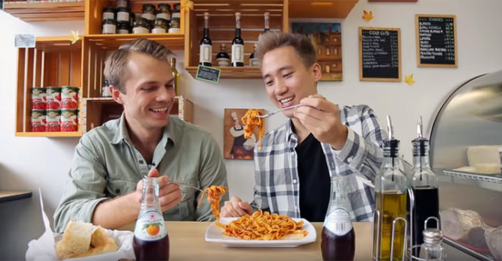 $8 VS $100 Pasta Showdown by Steven and Andrew of Worth It.