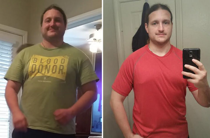 Before and After Weight Loss Photos of People Who Quit Drinking - 3 Months Sober.