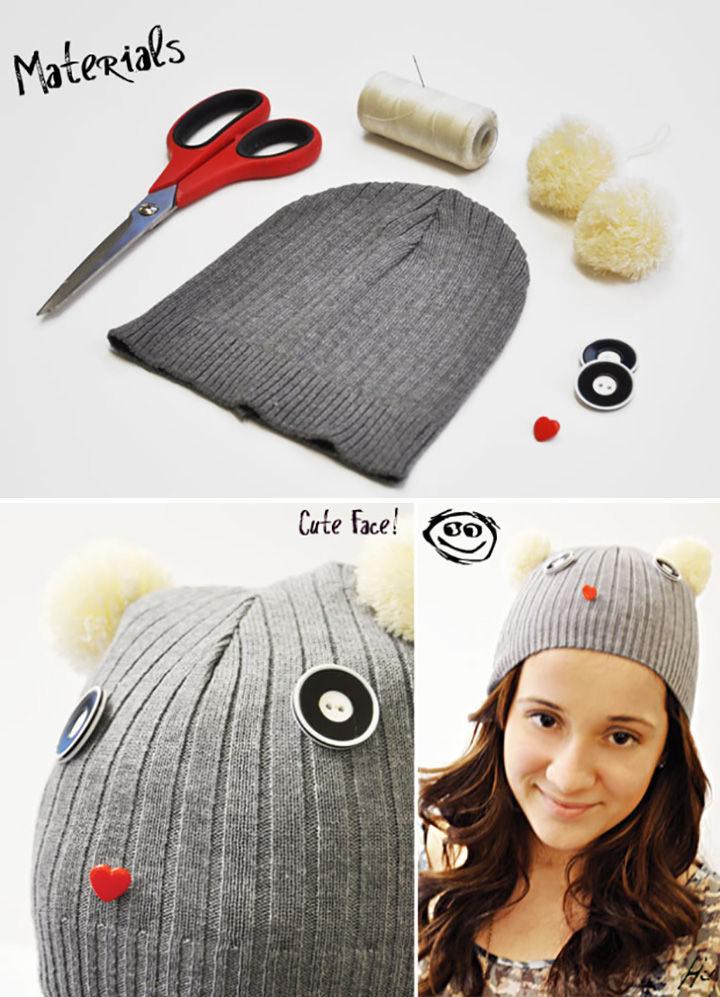 18 DIY Winter Clothes and Accessories - Embellish your knit winter hat!