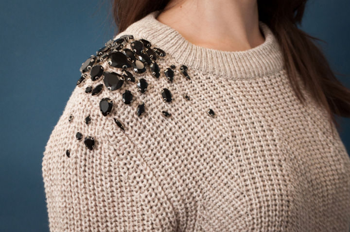 18 DIY Winter Clothes and Accessories - Transform that stylish sweater into a seasonal staple with bejeweled brilliance!