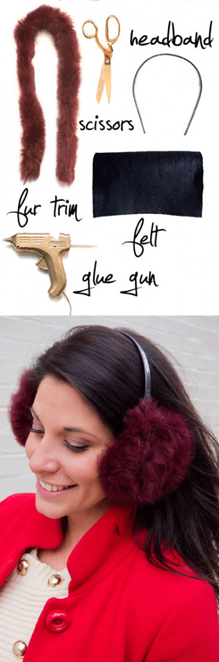 18 DIY Winter Clothes and Accessories - Keep your ears warm and stylish with DIY faux fur ear muffs.