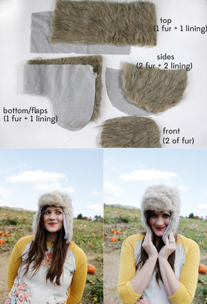 18 DIY Winter Clothes and Accessories - If ear muffs aren't your thing, make this DIY faux fur trapper hat.