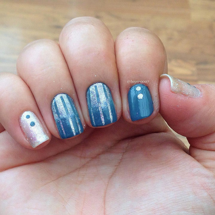 18 Reverse Gradient Nails - This design has got it going on!