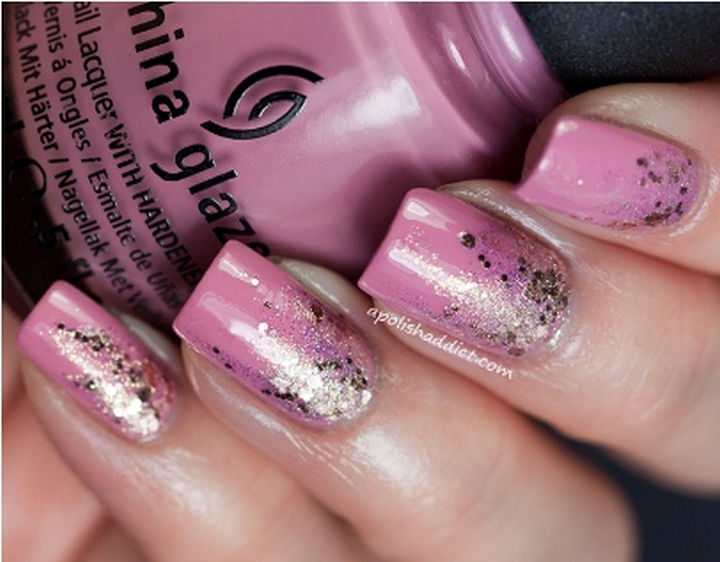 18 Reverse Gradient Nails - A reverse gradient design that is ready to party!