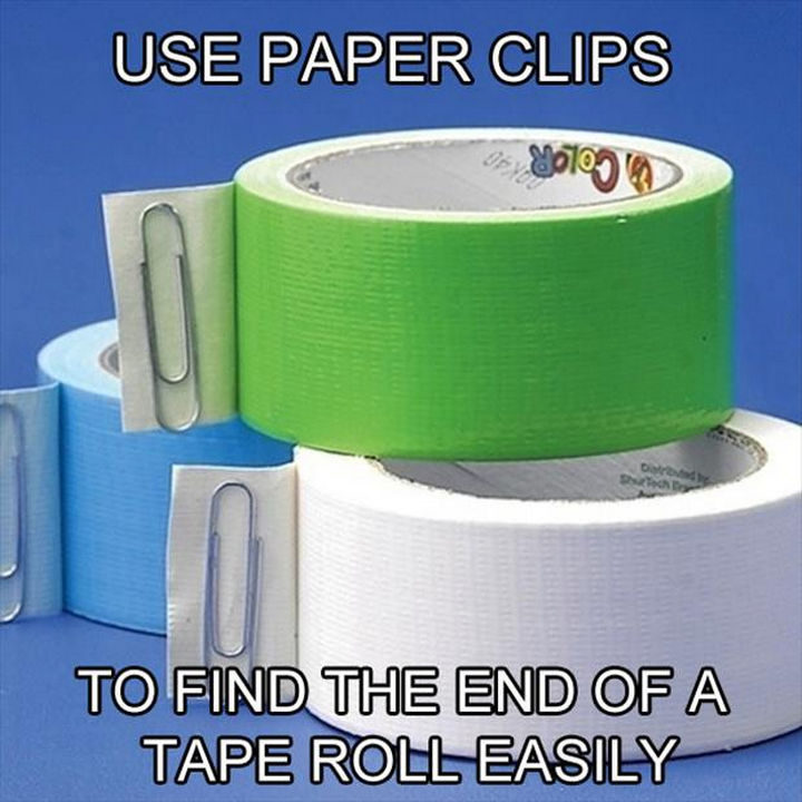 26 Simple Life Hacks - This is especially useful on packing tape!
