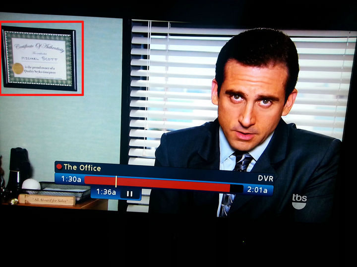 9 Funny Things You Cannot Unsee - Did you ever notice Michael from 'The Office' had a watch certificate on his wall?