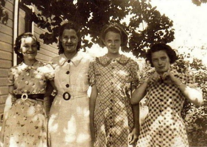 Not only children were wearing flour sack clothing but also women and teens.
