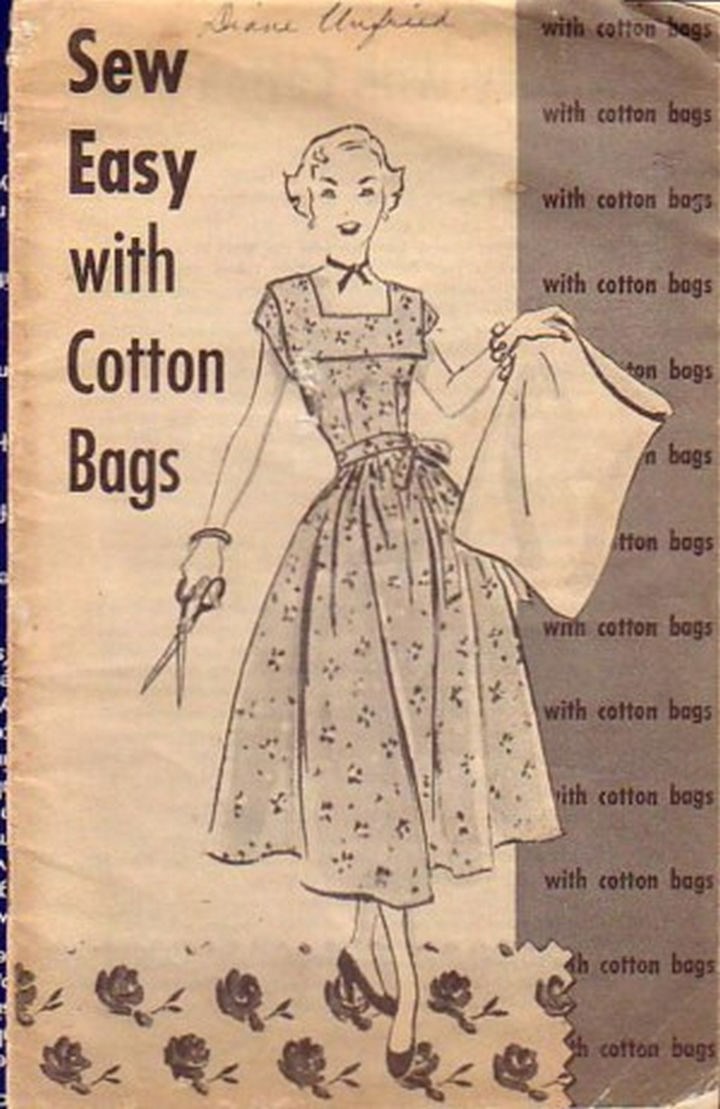 Sewing with cotton flour bags was so popular that many women and companies shared sewing techniques and patterns via printed booklets.