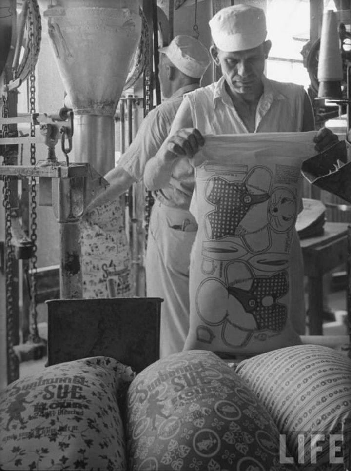 Companies and their employees took pride knowing that their flour sacks were being reused to help families on a strict budget.
