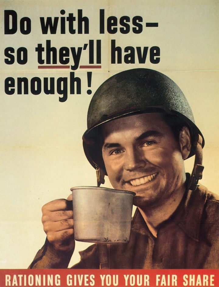 As the decade ended and gave way to the 1940s, World War II was starting and cotton had to be rationed to make uniforms for American soldiers.