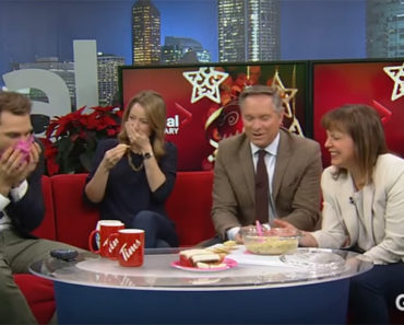 Global News Team in Calgary Agrees Holiday Artichoke Dip Tastes Funky.