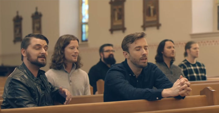 """Peter Hollens and Home Free Perform """"Amazing Grace""""."""