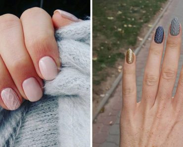 10 Beautiful Winter Sweater Nail Designs and Ideas. #2 Is Gorgeous!