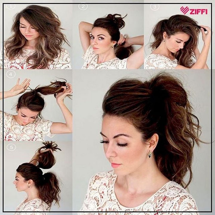 14 Lazy Girl Hair Hacks - Want to make your ponytail look fuller in only 2 minutes? Stack two ponytails together! This easy hair hack provides the illusion of a longer, fuller ponytail.