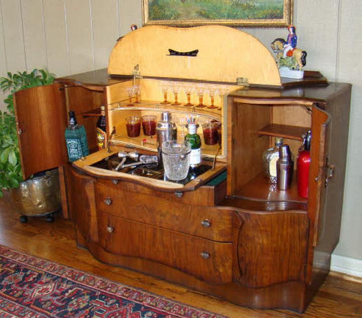 18 DIY Bars and Bar Carts - Radio stand martini bar.