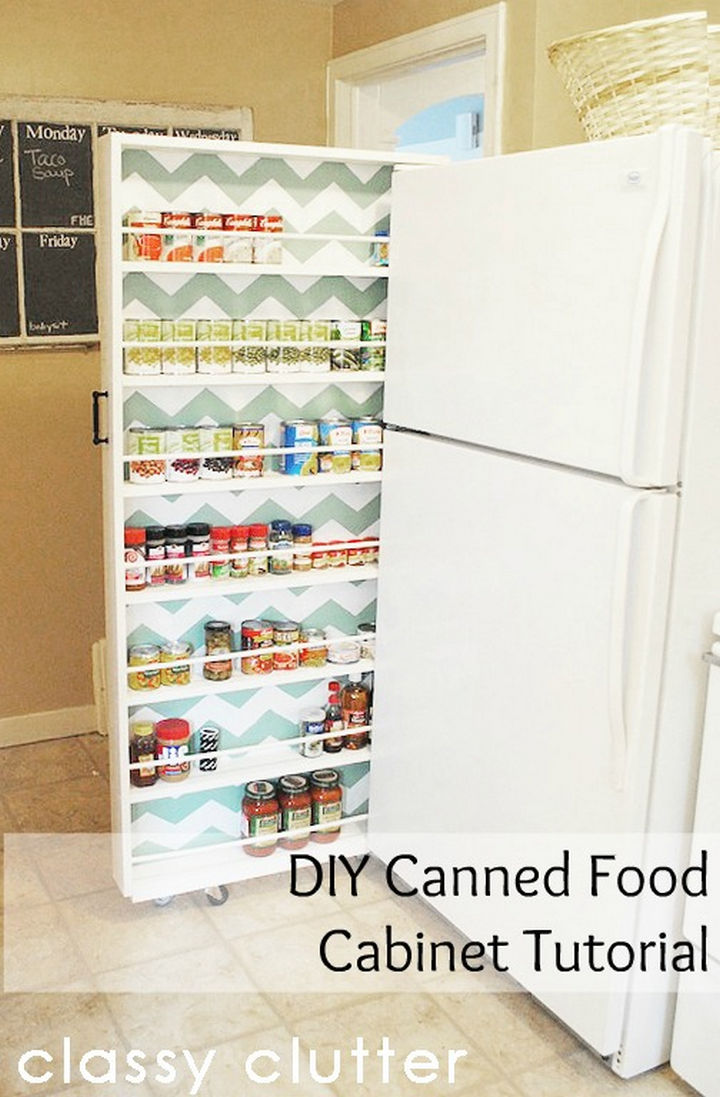 18 DIY Storage Ideas For Your Home - Create a slide-out pantry in your kitchen.