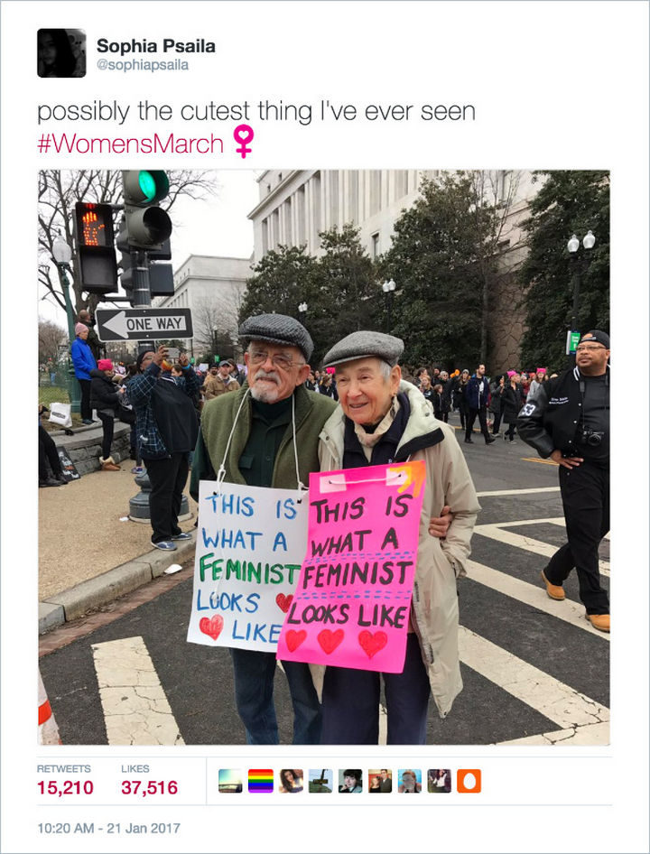 """20 Epic Women's March Signs - """"This is what a feminist looks like."""""""