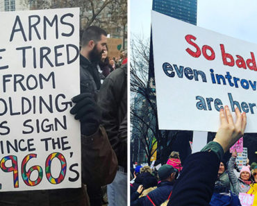 20 Epic Women's March Signs From the All Over the World.