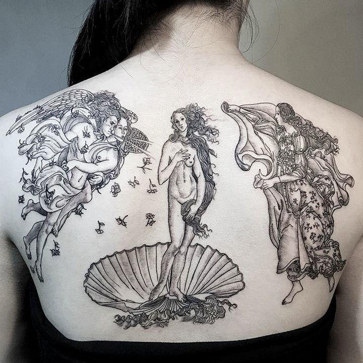 "22 Classical Art Tattoos - ""The Birth of Venus"" bySandro Botticelli."