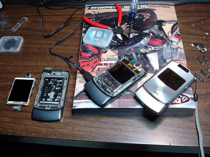 Salvage any electronics you may have dropped in water.