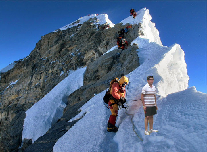 25 Funny Photoshop Trolls - He said he always wanted to climb Mount Everest...