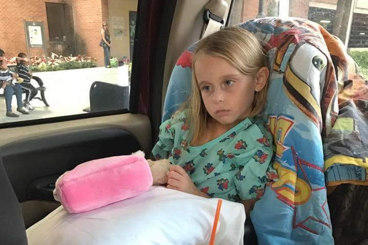 After rushing their daughter to the emergency room, her parents were told Rylee had a malignant brain tumor.