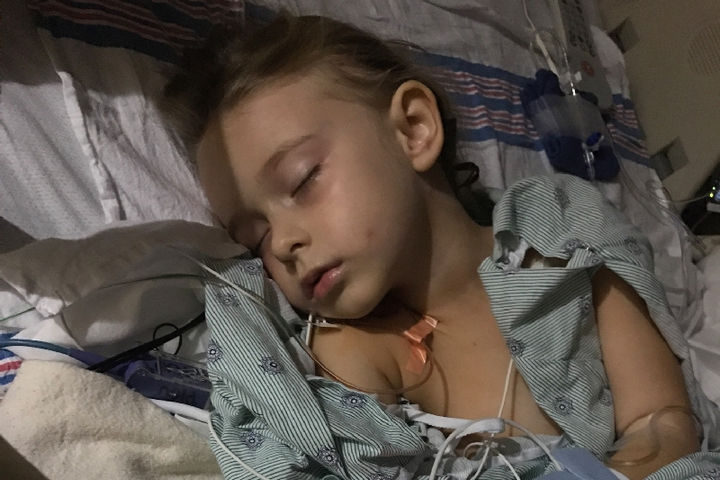 The next morning, she received surgery at the Arnold Palmer Children's Hospital in Orlando, Florida where doctors successfully removed the tumor.