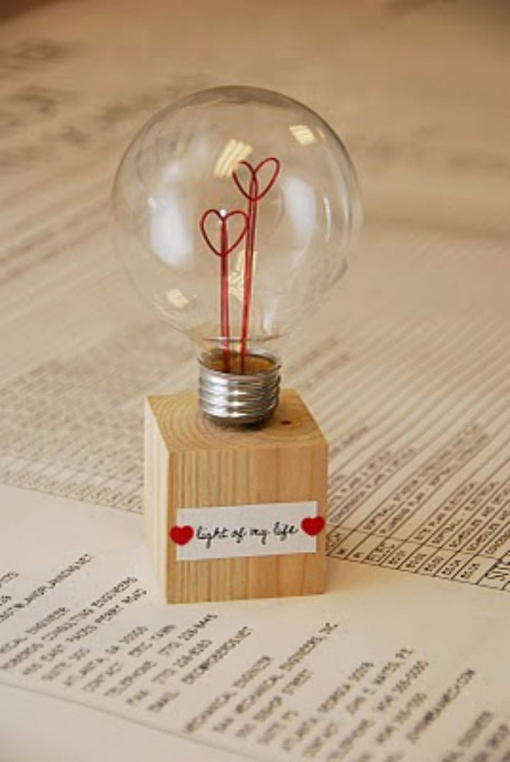 27 DIY Valentine's Day Crafts - Tell your Valentine that they are the light of your life.