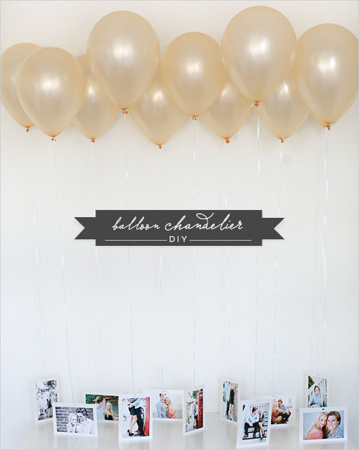 27 DIY Valentine's Day Crafts - Surprise your Valentine with a DIY balloon chandelier.