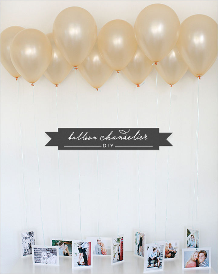27 DIY Valentine's Day Gifts - Surprise your Valentine with a DIY balloon chandelier.