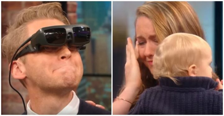 ESight Glasses Let Blind Man Sees His Family for the First Time With on Rachael Ray.