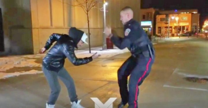 Ontario Police Officer Has Epic Dance-Off with Dance Troupe.