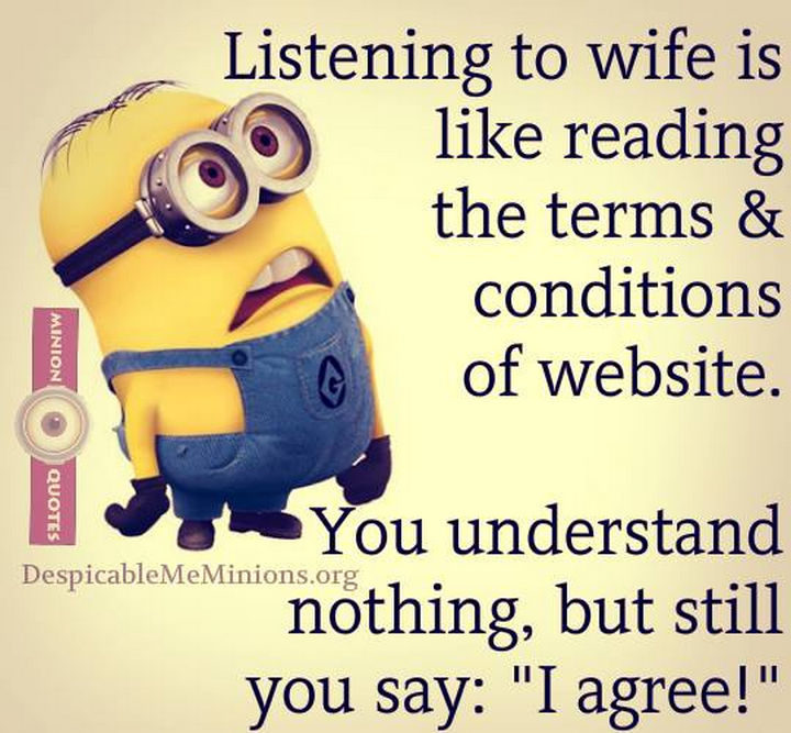10 Funny Marriage Quotes - Happy Marriage Lesson #104: Always agree.