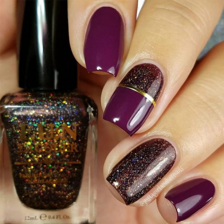 17 winter nails and nail art ideas to brighten up the season 17 winter nails cute winter nails that shimmer and shine prinsesfo Gallery