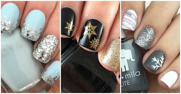 17 Winter Nail Designs and Nail Art Ideas to Brighten Up the