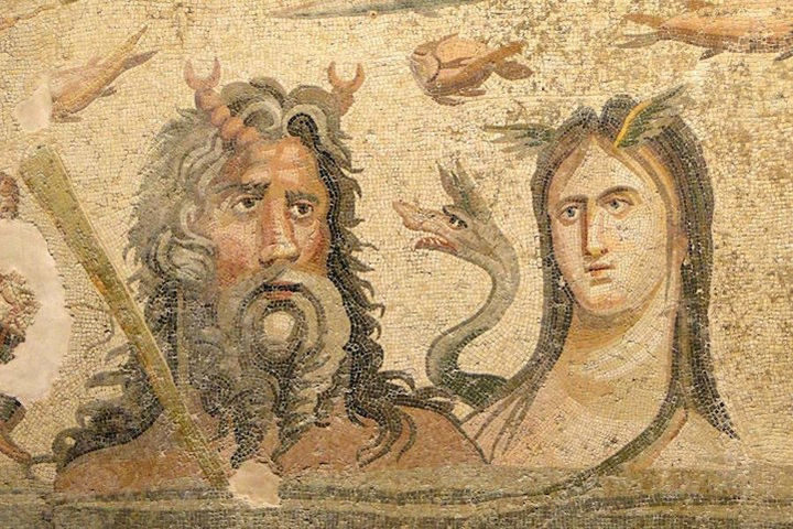 Oceanus, the Titan Lord of the Seas, and his sister/consort Tethys, the Titan goddess of the waters of the world.