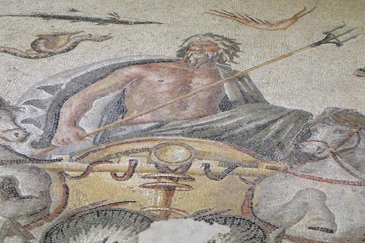 The Greek God, Poseidon - God of the sea.