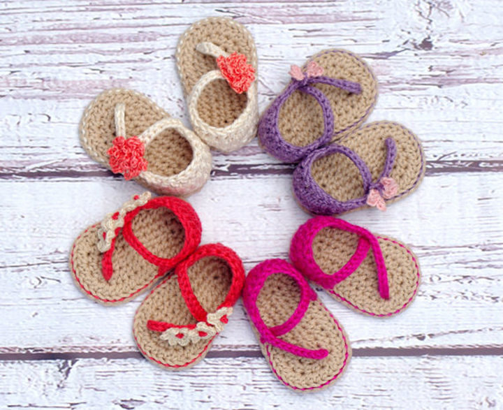 You can make one or a variety of sandals in bright, summer colors.