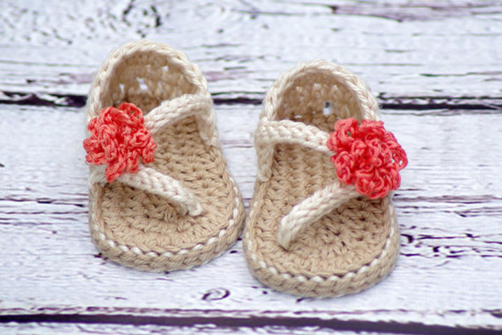 134bf6eae Crochet Patterns for Baby Carefree Sandals and Baby Flip Flop Sandals