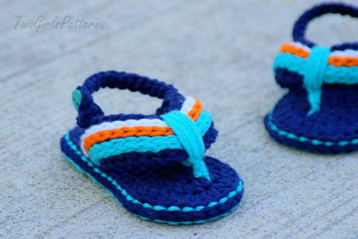 What little boy wouldn't love a pair of handmade crochet flip flop sandals?