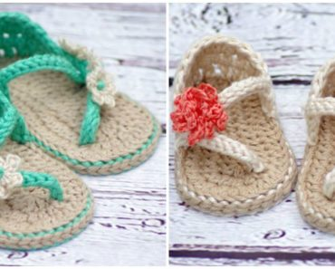 Crochet Patterns for Baby Carefree Sandals and Baby Flip Flop Sandals.