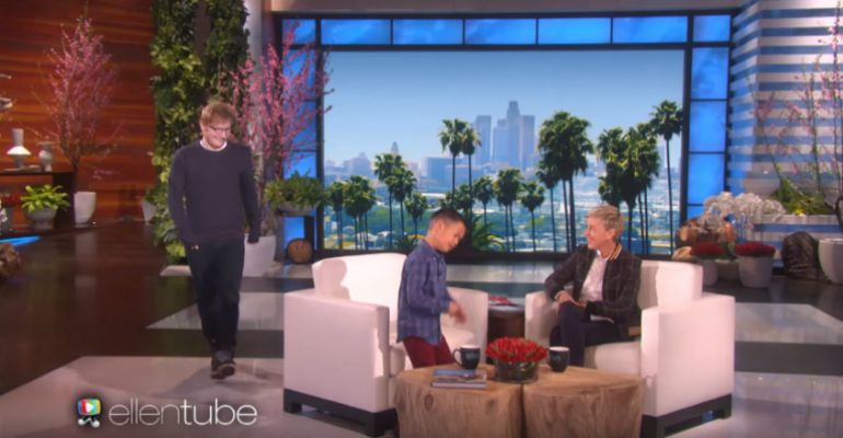 Ed Sheeran Surprises 8-Year-Old Boy Singing His Song on Ellen.