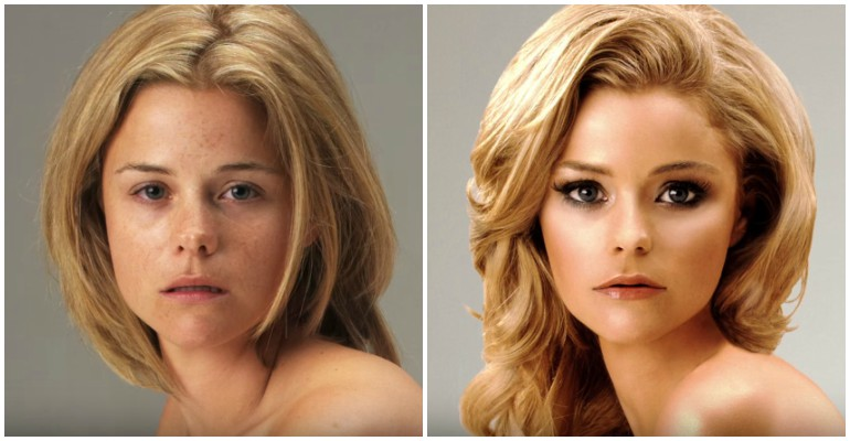 Model Becomes Unrecognizable After Being Photoshopped in Time-Lapse Video.
