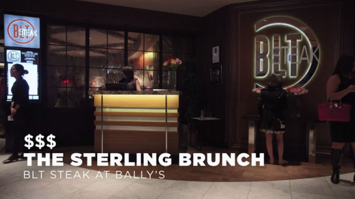 The final stop is The Sterling Brunch at the BLT Steak Restaurant at Bally's. Ringing in at $95 and with lobster tails, caviar, and unlimited champagne, it quickly adds up to an unbelievable food experience.
