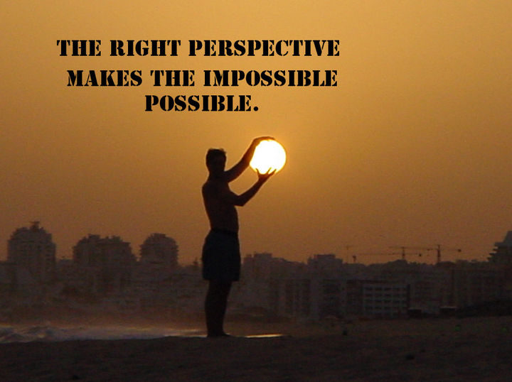 "10 Perspective Quotes - ""The right perspective makes the impossible possible."""